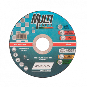 Disco de Corte Multiticorte 4 1/2 - Norton