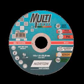 Disco de Corte Multiticorte 4 1/2 - Norton